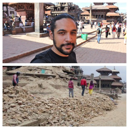 (Patan Durbar Square / In 2011, and today)